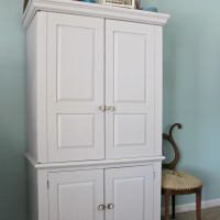 Drab-to-Fab Armoire Makeover
