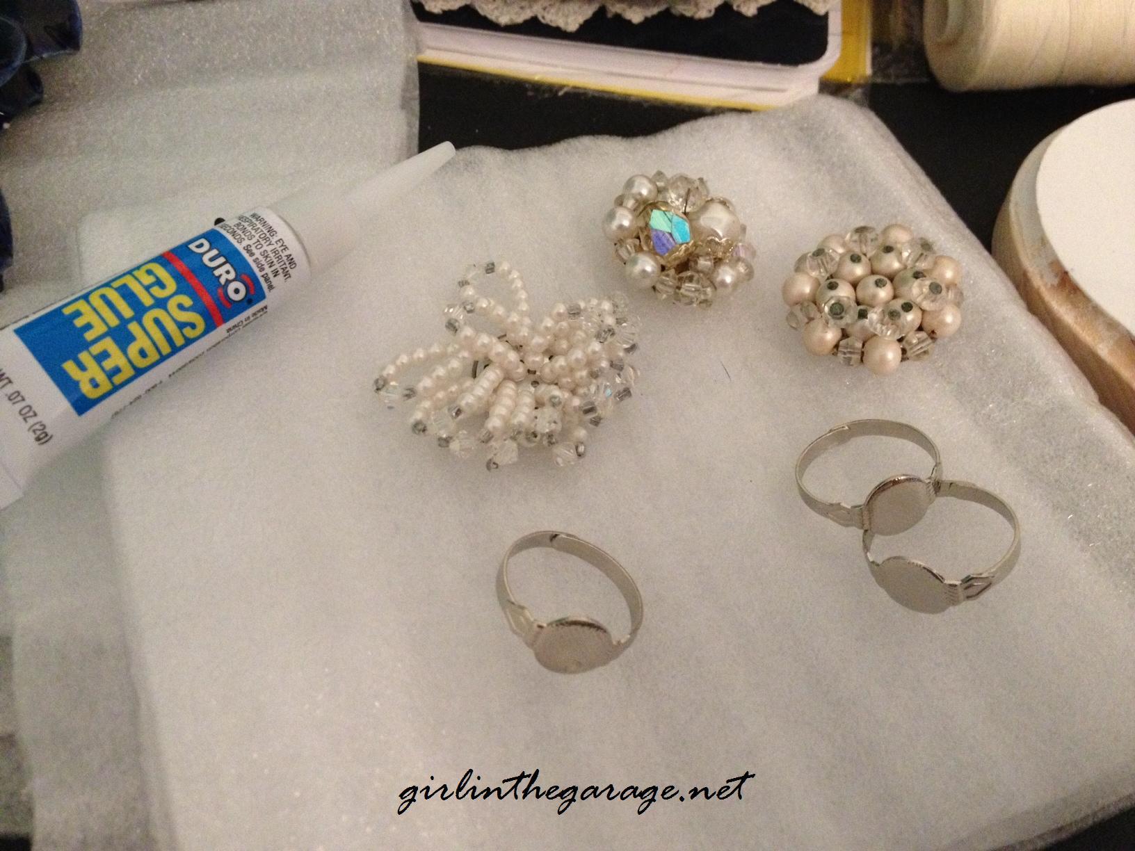 Vintage Earring Repurpose By Girl In The Garage Blog