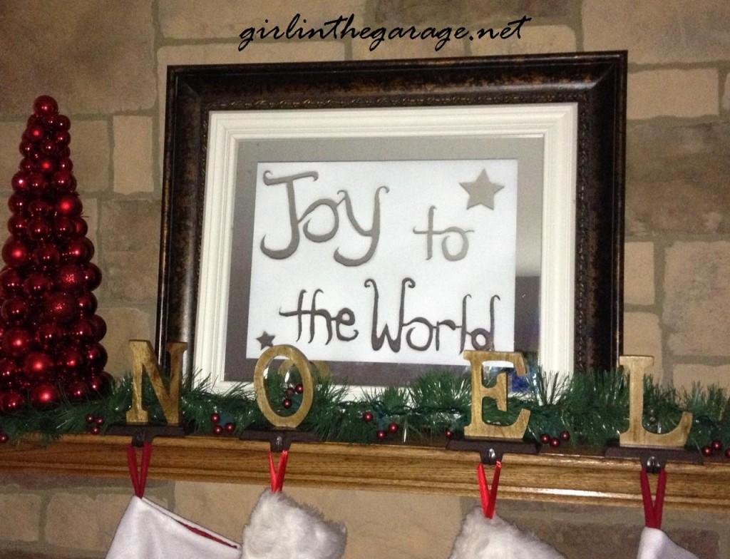 Spray painted holiday mirror by Girl in the Garage