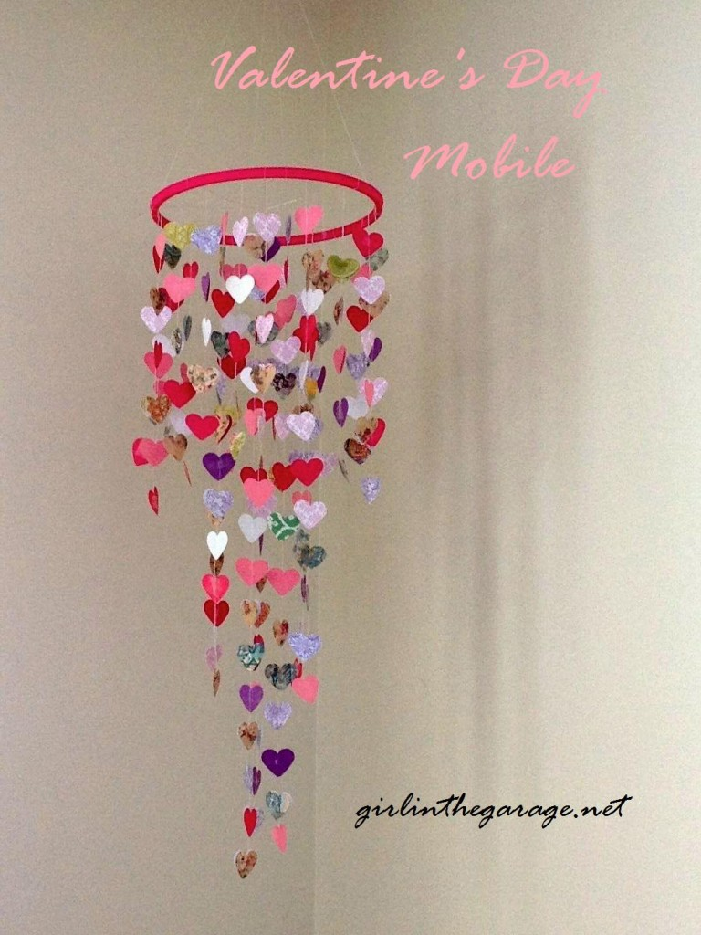 Valentine's Day Heart Mobile by Girl in the Garage