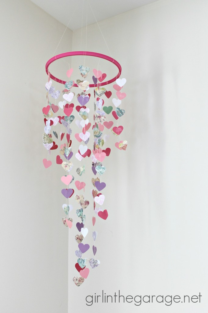 Hanging Hearts Mobile by Girl in the Garage