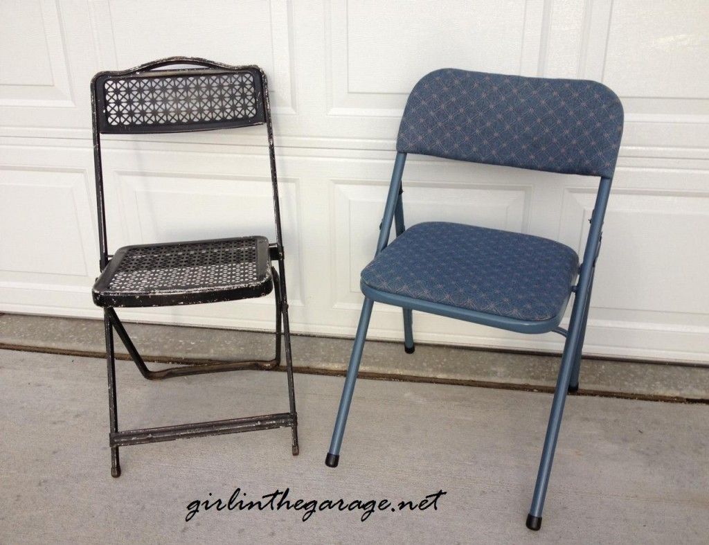folding chairs, before @ girlinthegarage.net