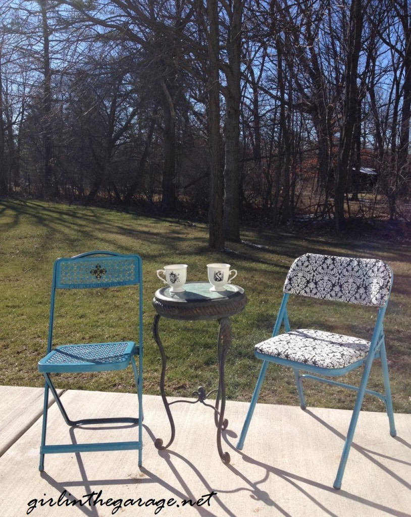 Reupholstered chairs @ Girl in the Garage blog