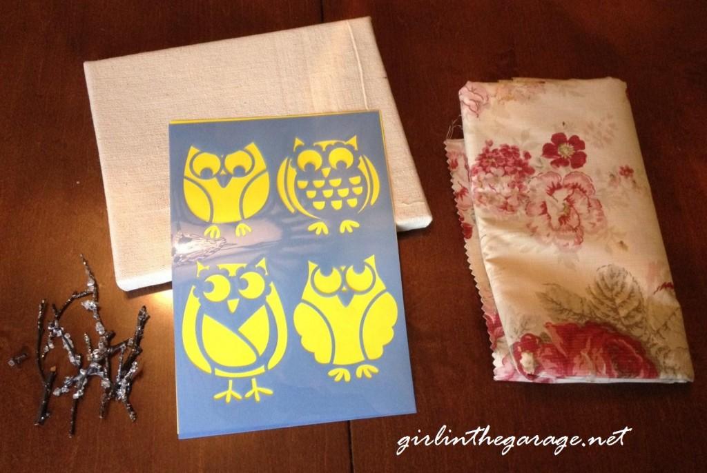 Winter Owl Art Supplies at https://girlinthegarage.net