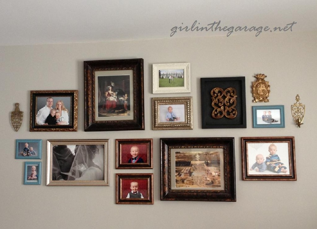 Gallery Wall by Girl in the Garage