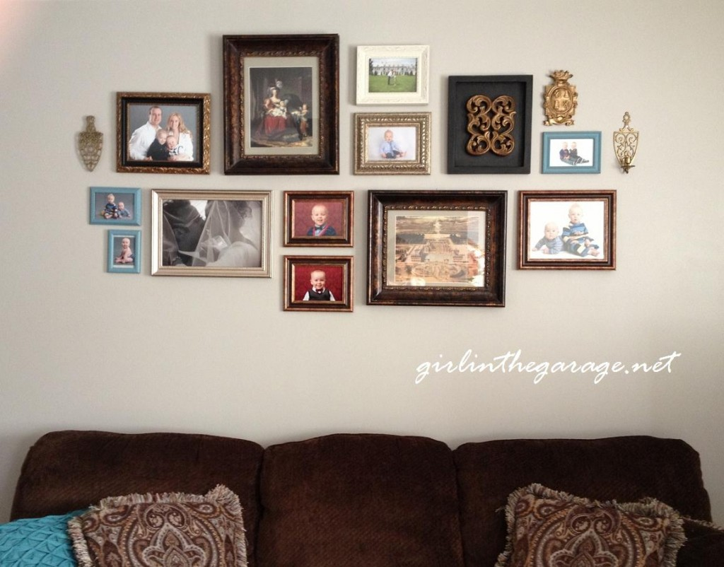 Full view gallery wall by Girl in the Garage