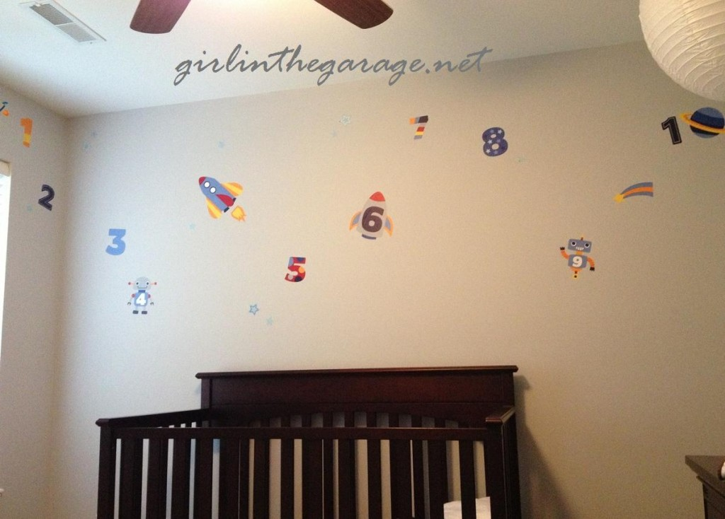 Little Boy's Space-themed Bedroom by Girl in the Garage