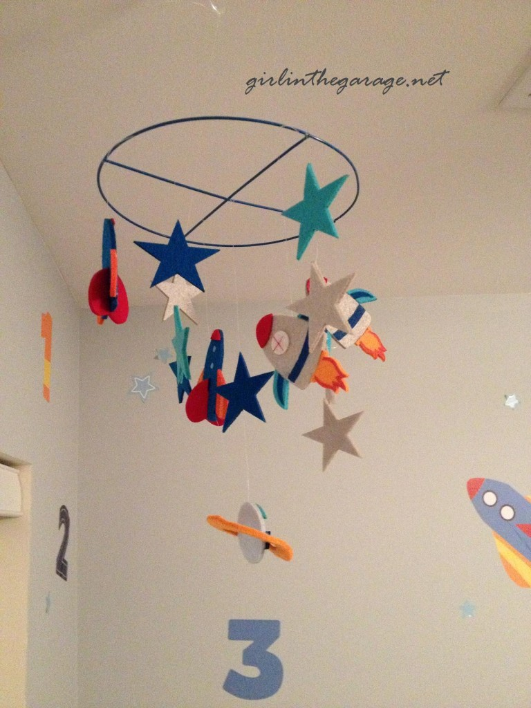 Boy's Space Mobile by Girl in the Garage