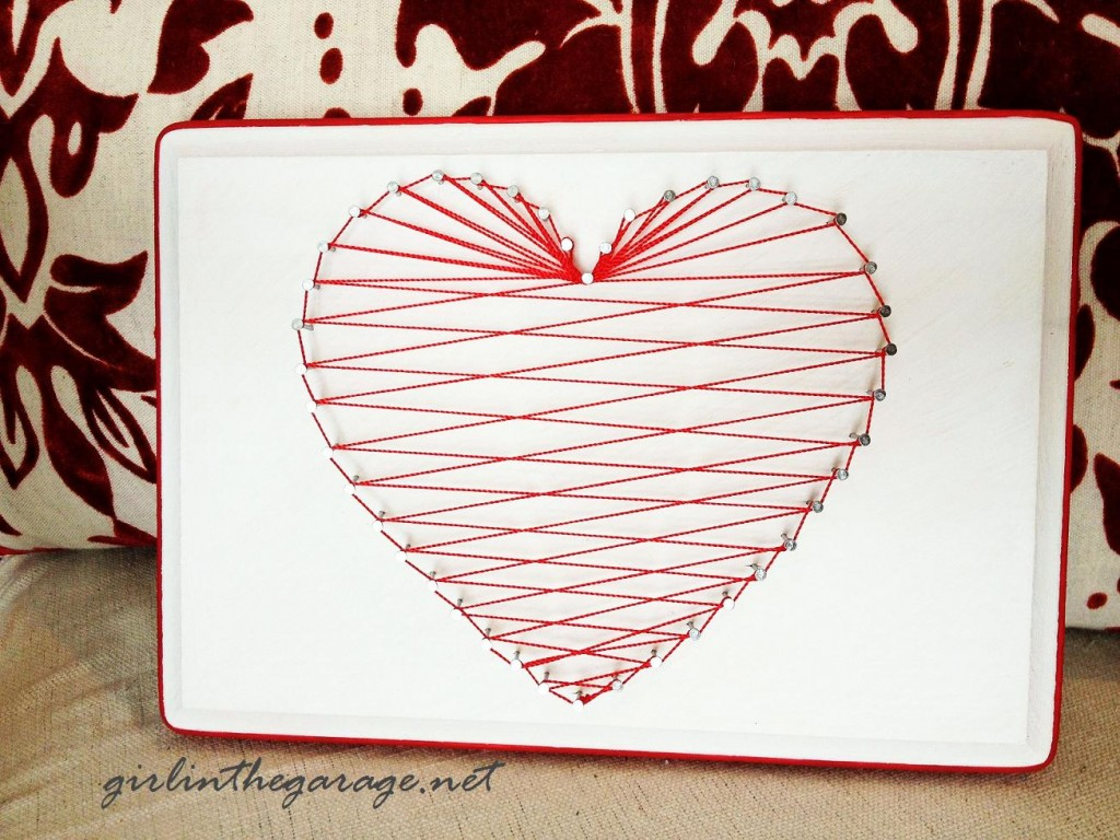 Heart String Art I girlinthegarage.net