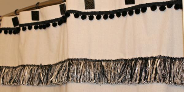 DIY Custom Shower Curtain