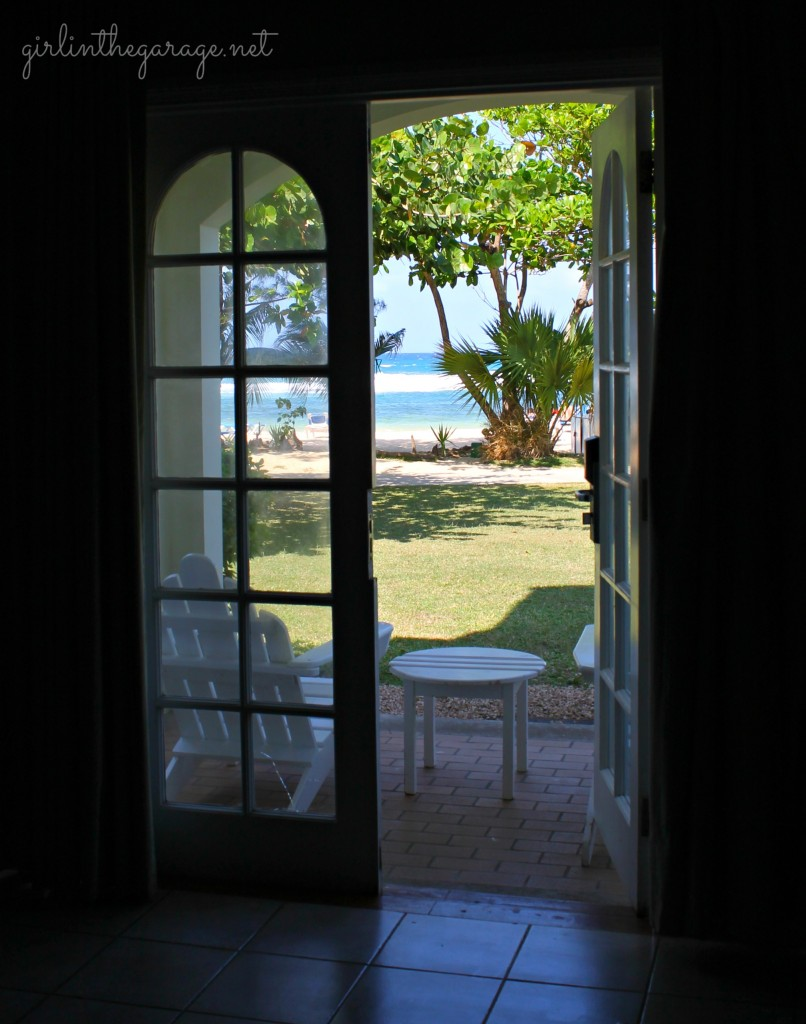 View from our hotel room in Jamaica - Girl in the Garage
