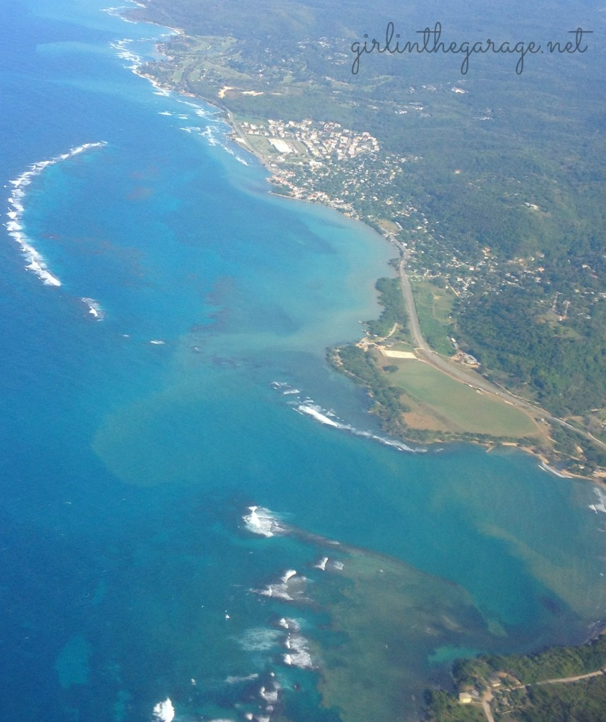 View of Jamaica coast from the airplane - Girl in the Garage