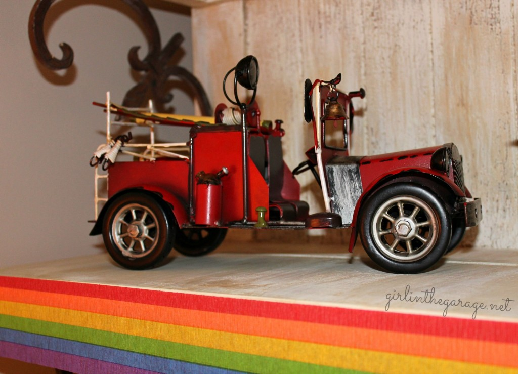 Planes, Trains, and Automobiles Birthday Party by Girl in the Garage & Kiyomi Designs.  (Vintage firetruck.)