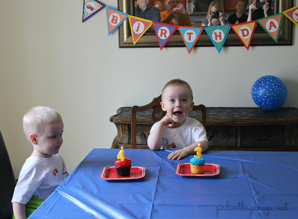 Planes, Trains, and Automobiles Birthday Party by Girl in the Garage & Kiyomi Designs.  (Singing Happy Birthday!)