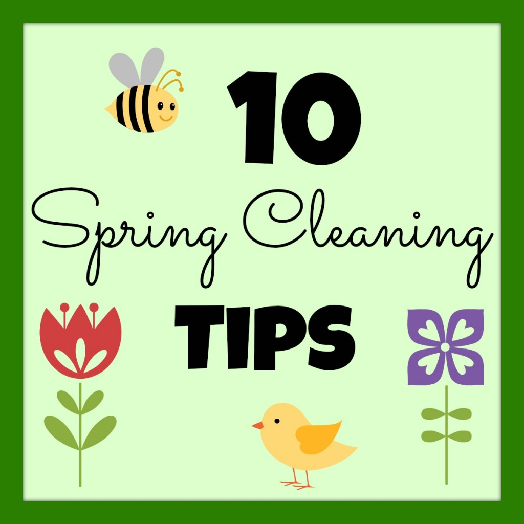 10 Spring Cleaning Tips, gathered by Girl in the Garage