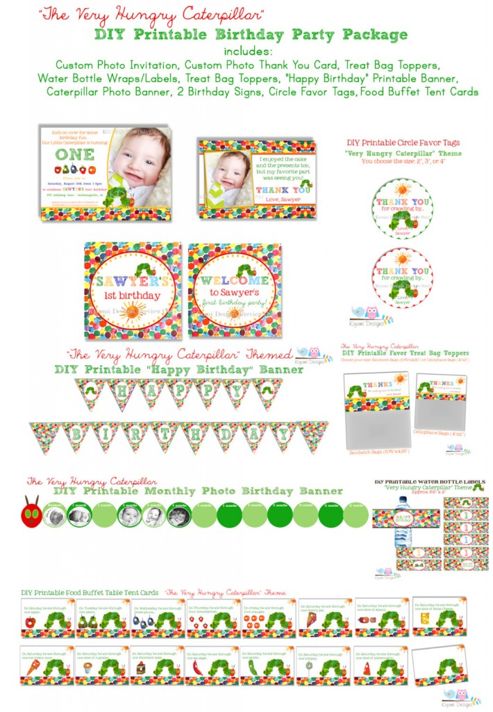 Kiyomi Designs- Very Hungry Caterpillar party package.
