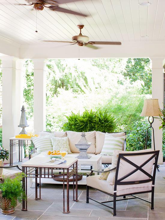 Stone patio {via Better Homes & Gardens}