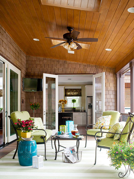 12 inspirational patios porches girl in the garage Better homes gardens tv