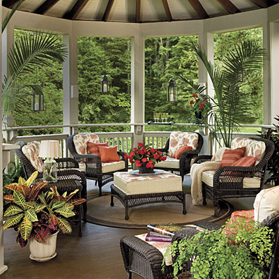 Porch For Entertaining {Image Via Southern Living}