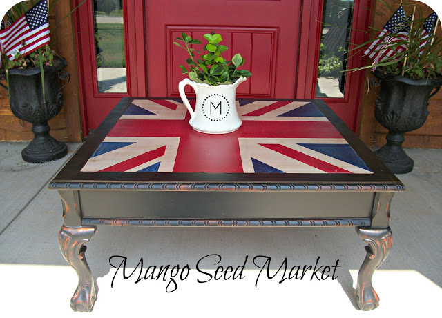Union Jack coffee table by Three Mango Seeds