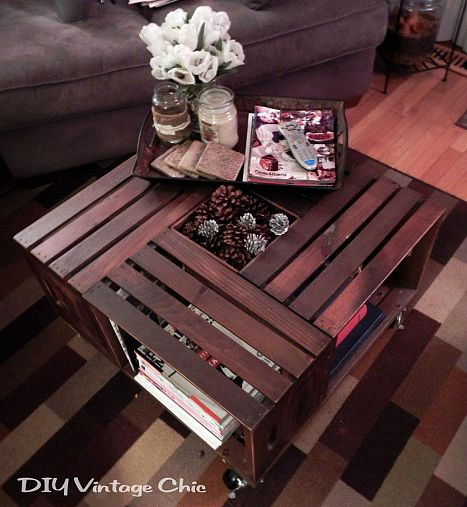 17 repurposed crate ideas from hometalk girl in the garage for Mesa para tv con cajones