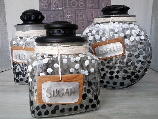 Add ombre dots to a canister set by StowandTellU