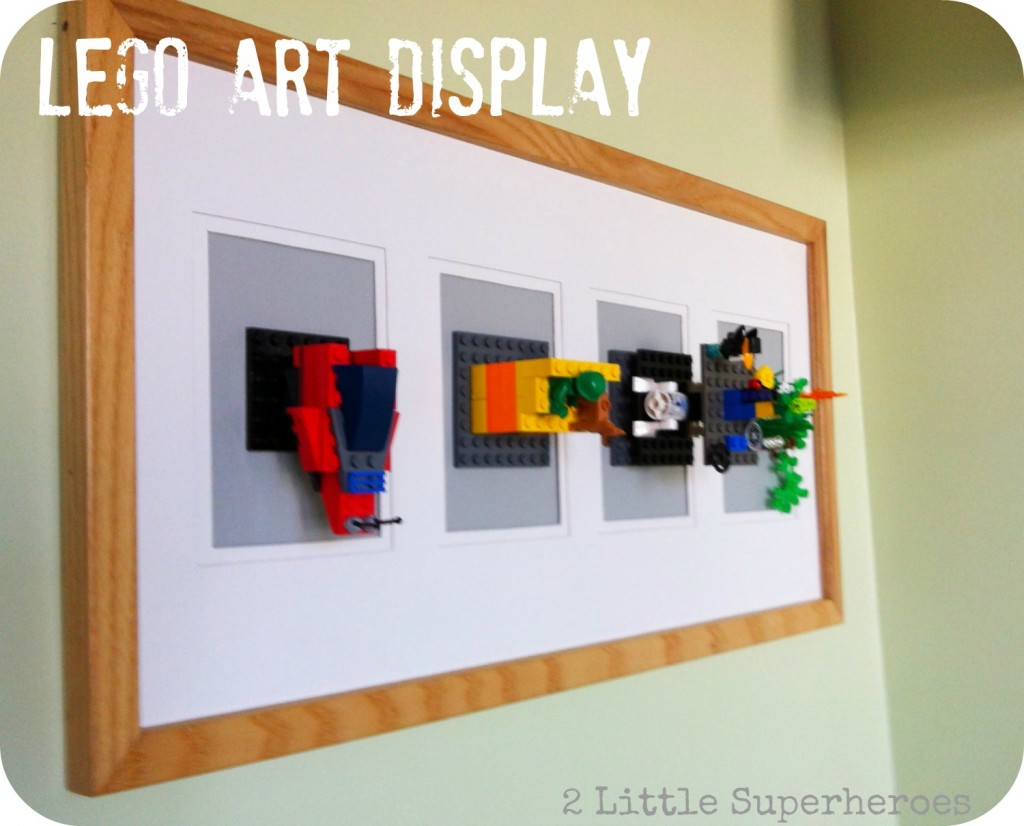 Lego art display by 2 Little Superheroes