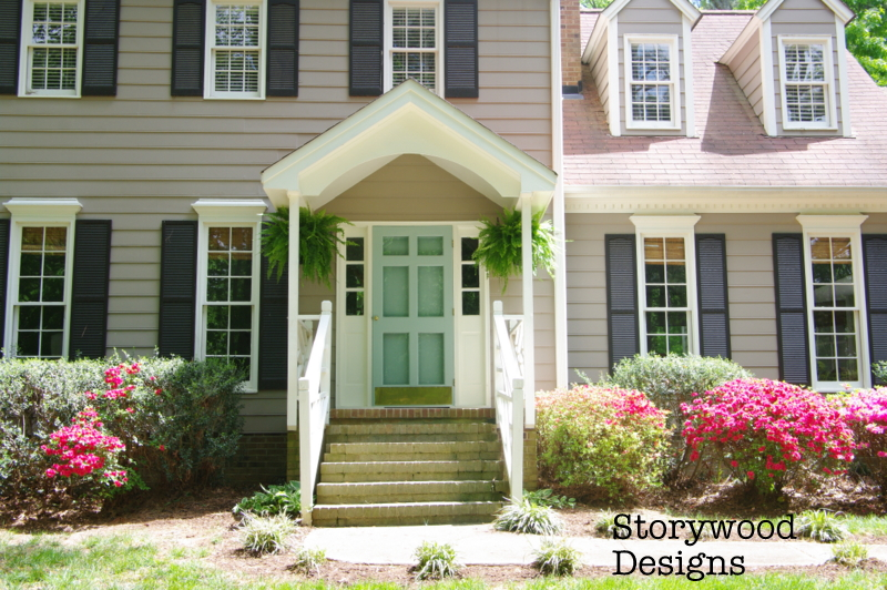 Painting the front door by Storywood Designs