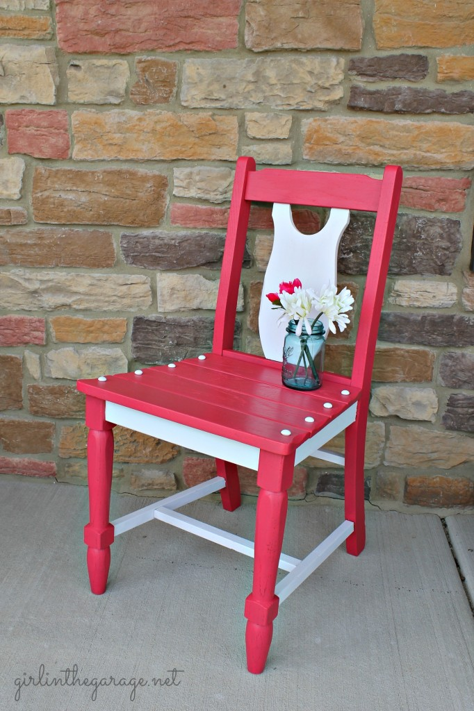 Berry Blush Chair Makeover by Girl in the Garage