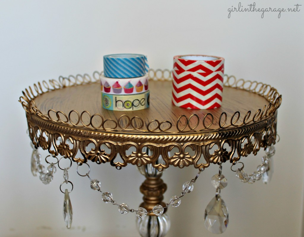 Washi tape to make Washi Wildflowers.  By Girl in the Garage