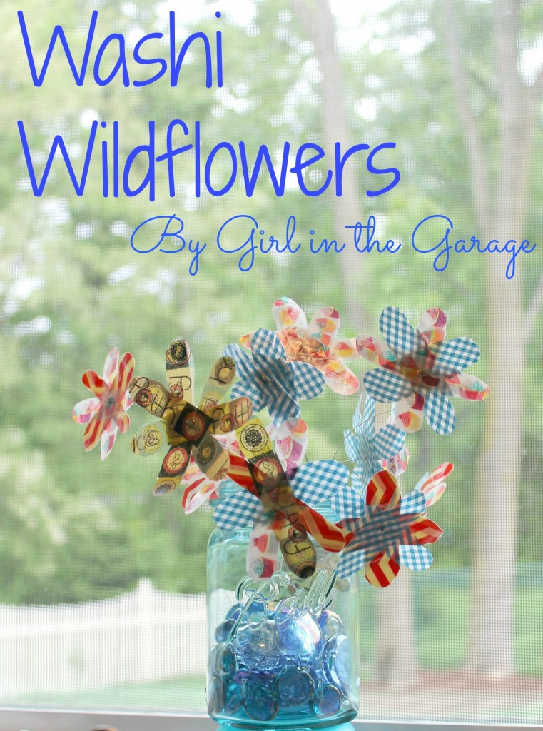 Washi Wildflowers by Girl in the Garage
