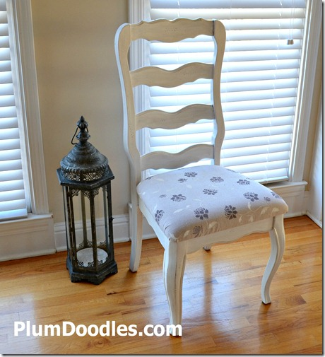 Painted and reupholstered chair by Plum Doodles