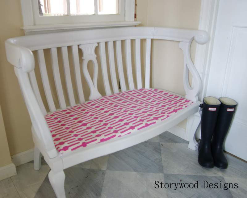 Painted Bench by Storywood Designs
