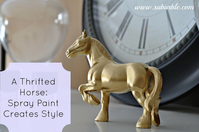 Spray painted horse by Suburble