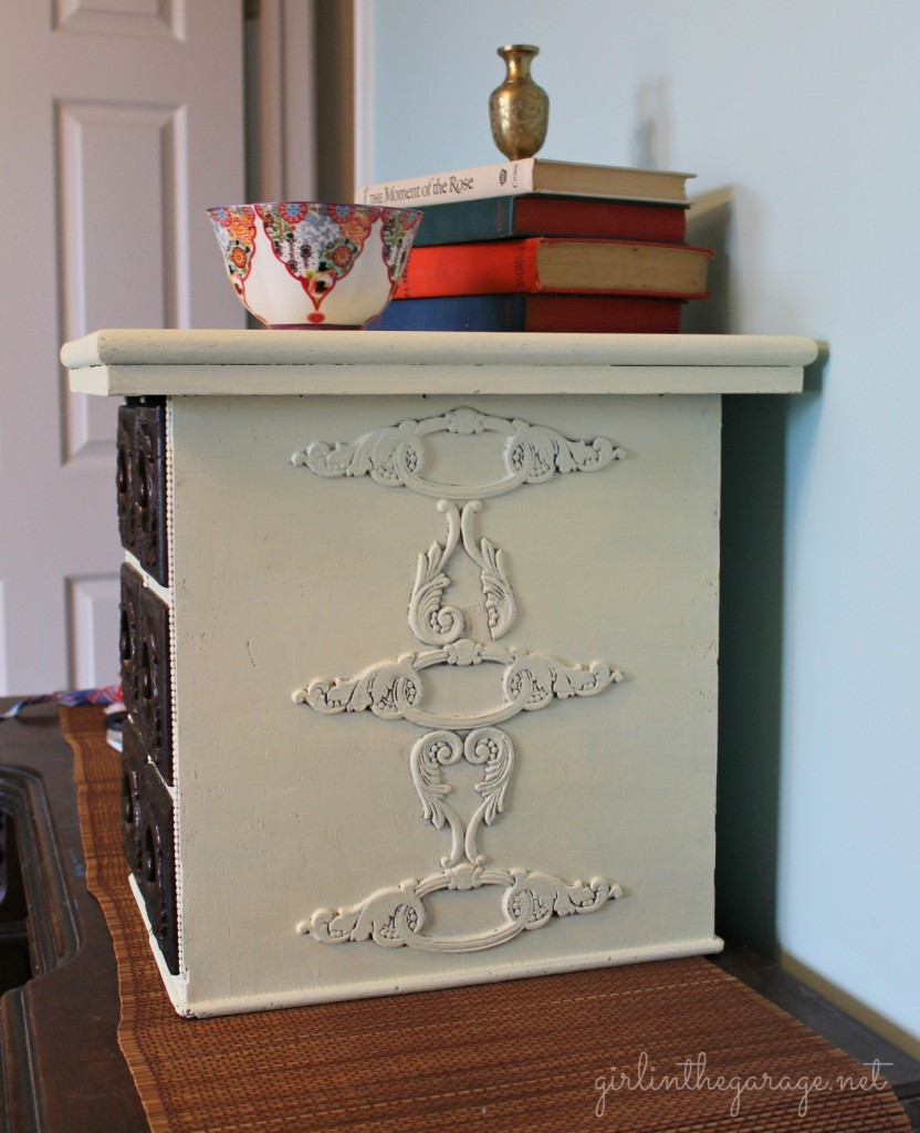 Upcycled Antique Sewing Drawers by Girl in the Garage
