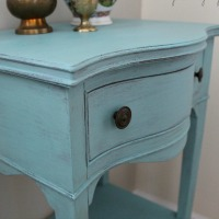 Chalk Painted Table With Gold Feet
