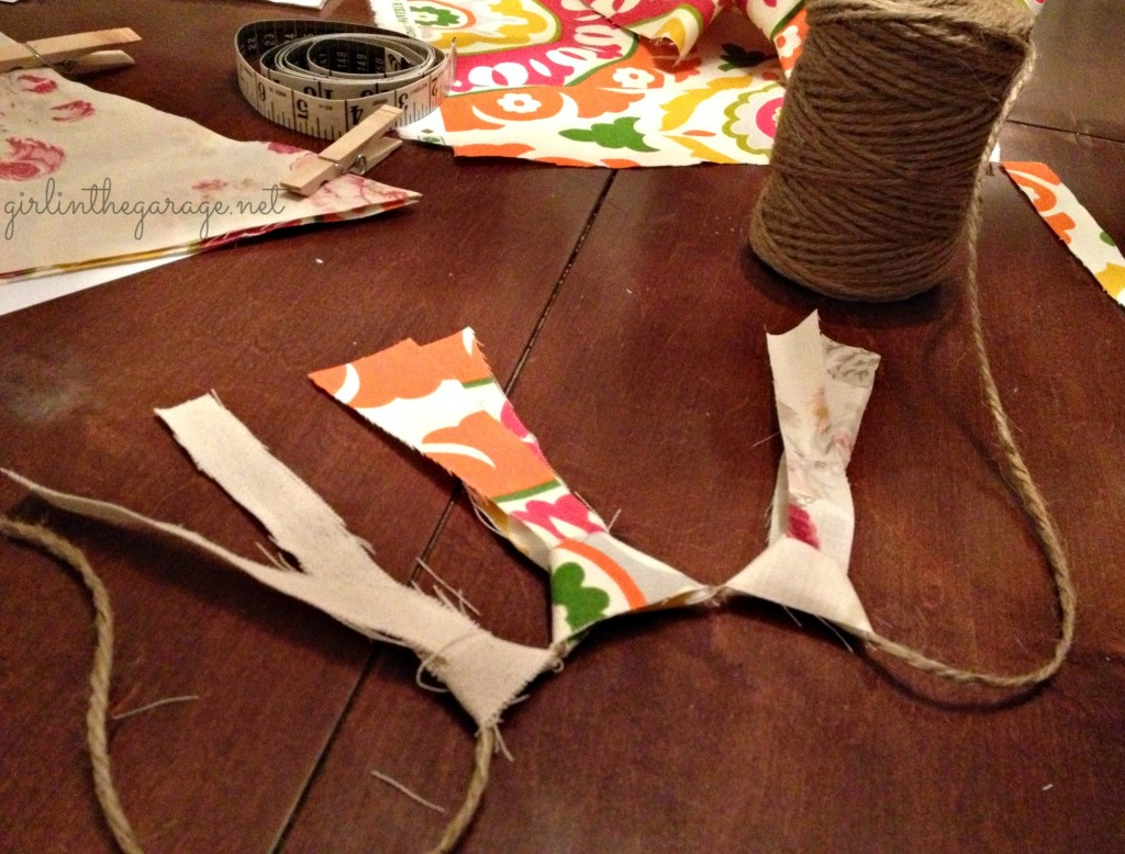 DIY Fabric garland and bunting tutorial by Girl in the Garage.  Great for parties or home decor!