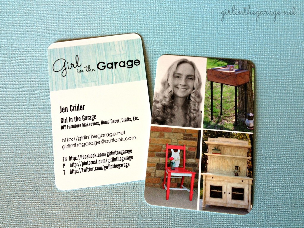 New business cards from Moo.  By Girl in the Garage