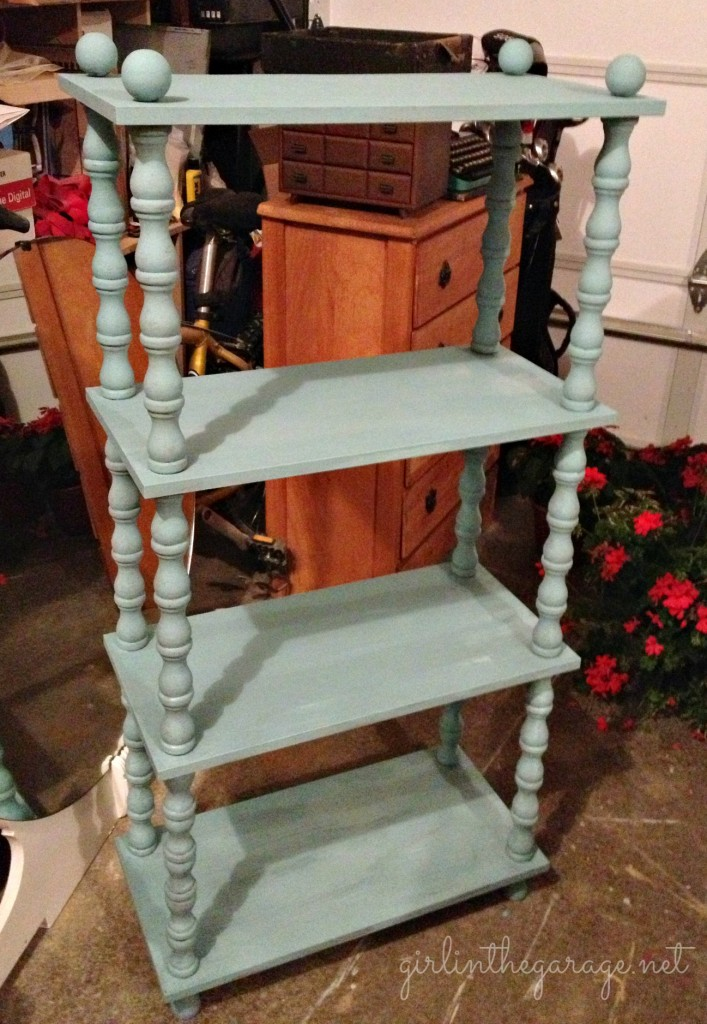 Vintage bookcase painted in Annie Sloan chalk paint and clear wax.