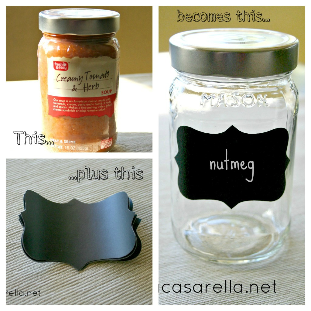 Chalkboard Label Jars by 'A Casarella