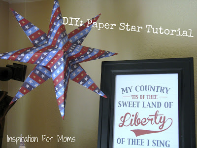 DIY Paper Star Tutorial by Inspiration for Moms