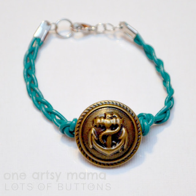 Braided Anchor Bracelet by One Artsy Mama