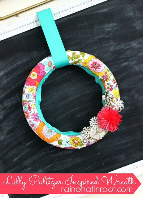 Lilly Pulitzer Inspired Wreath by Rain on a Tin Roof