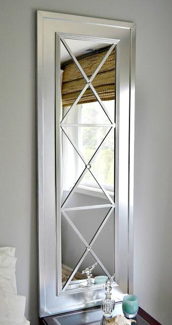 Glamorous upcycled door mirror by Lilikoi Joy