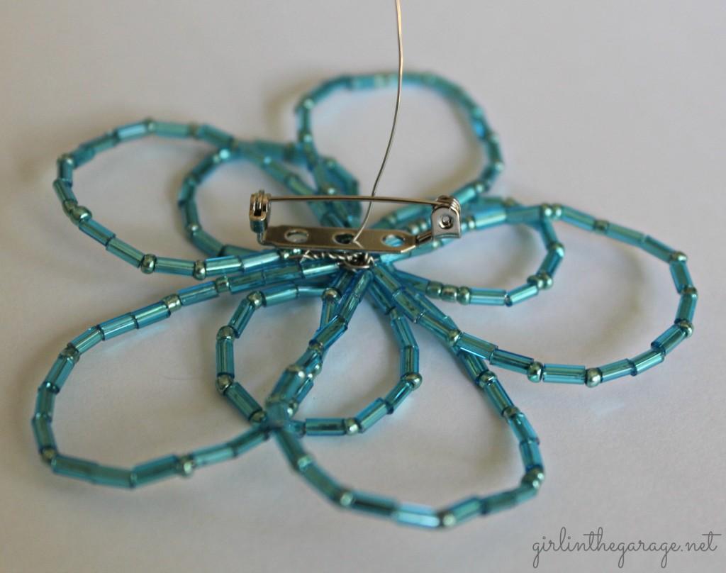 DIY Beaded Flower Pin