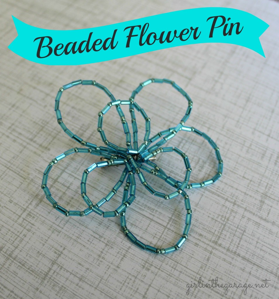 DIY Beaded Flower Pin