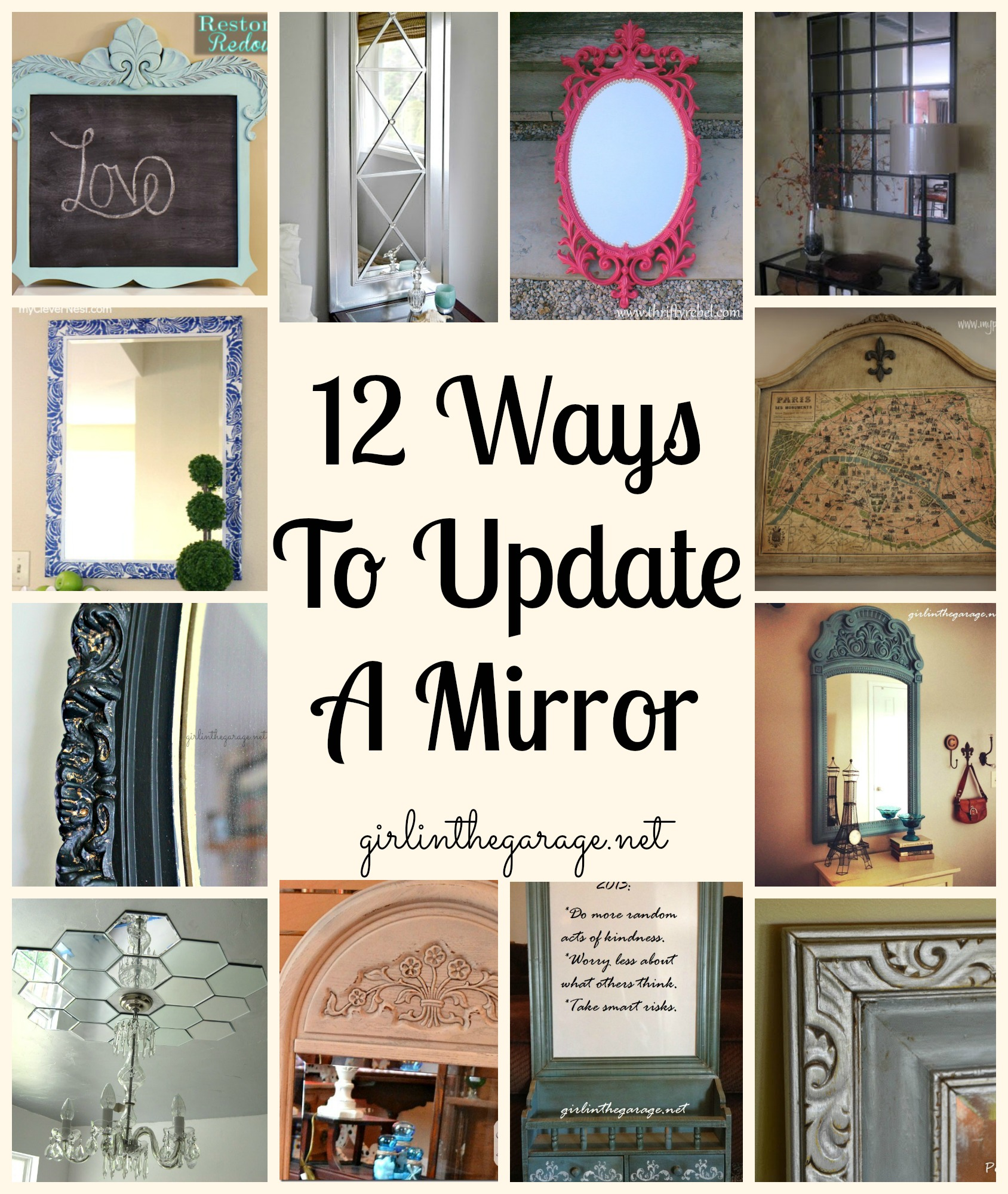 12 Ways to Update a Mirror - Girl in the Garage