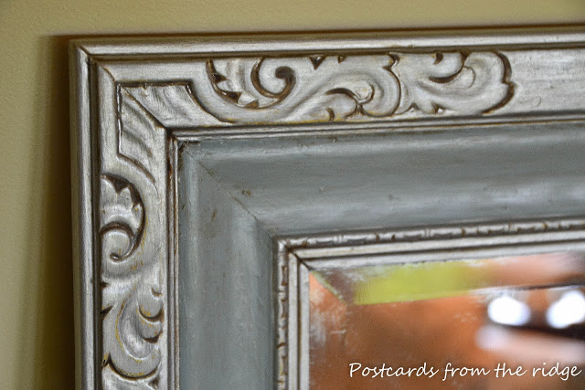 Mirror makeover (inspired by Ballard Designs) by Postcards From the Ridge