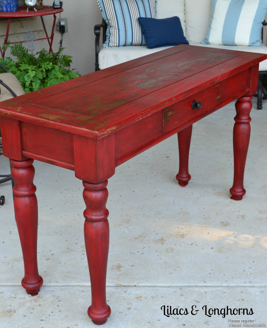 Red Painted Sofa Tables