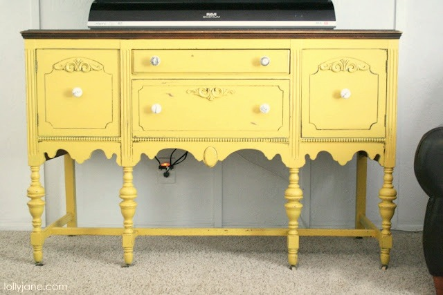 Yellow buffet by Lolly Jane